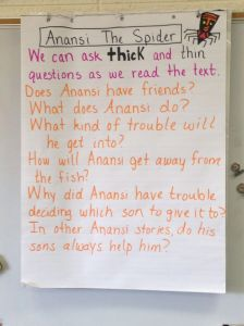 My kids are starting to think a little deeper (or thicker) about their text questions!